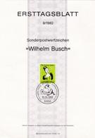 Ersttagsblatt Wilhelm Busch - FDC: Bögen