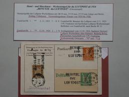 AD17 ALLEMAGNE BELLE LETTRE + 1 FRAGMENT 1924 +AEROPHILATELIE + AFFRANCH. INTERESSANT - Briefe U. Dokumente