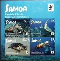 Samoa 2016 Mi. 1348-51 ** MNH WWF Schildkröten Turtles Block 8 Euro - Unused Stamps