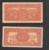 Austria 50 Groschen 1944 Occupazione Österreich  Allied Military Authority Alliierte Militärbehörde Pic 102 - Austria