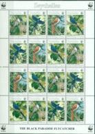 Seycheles, WWF, Birds, 1996, Sheet - Unused Stamps