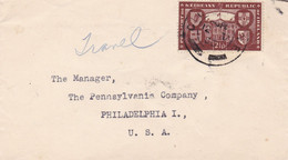IRLAND ENVELOPE. CIRCULATED 1950. TO PHILADELPHIA U.S.A.- LILHU - Covers & Documents