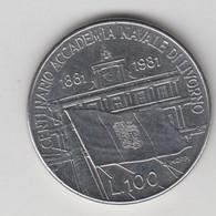 100 LIRE 1881-1981  - CENTENARIO ACADEMIA NAVALE DI LIVORNO - Commemorative