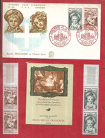 FRANCE Croix Rouge  Carnet 1962   1er Jour Timbres Détachés N** MNH - Tag Der Briefmarke