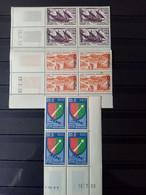 ALGERIE.1957-58. N° 342.350 Et 352 Blocs Coins Datés. NEUFS SANS Charnières. Côte YT Colonies 2022 : 35,65 € - Unused Stamps