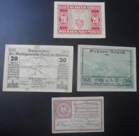 1920 AUTRICHE 4 X 20 HELLER - Austria