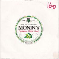 45 Tours Publicitaire Drink Aux Cirons Verts Monin's Original Triple Lime Monine (caldone-schreider) - Collectors