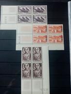 ALGERIE.1954-58. N° 318.342 Et 350 Blocs Coins Datés. NEUFS SANS Charnières. Côte YT Colonies 2022 : 29,90 € - Unused Stamps