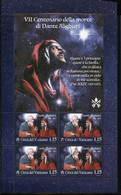 67069 Vaticano, Bloc 2021 VII Centenary Death Of Dante Alighieri, With Special First Day Postmark - Nuovi