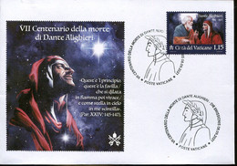 67070 Vaticano, Fdc 2021  For The VII Centenary Of Death Dante Alighieri,  With Special Postmark - FDC