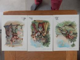 """Lot De 3 Fiches (11,5 X 16 Cms)  Cartonnées Illustrées """"Galerie Rémoises"""" - Geschiedenis"""