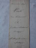 Acte Notarié Du Grand Gallargues Gard Vente Maison Vergèze 19 Novembre 1867 & Timbre Impérial Aigle C Et 1f.50c - Manuscripts