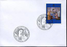 67072 Vaticano, Special Postmark 2021  Assunption Of The Virgin,   Madonna And Child - Storia Postale