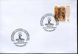 67074 Vaticano, Special Postmark 2021 For The Pope's Francisco  Visit To Hungary  For The Eucharistic Congress - Storia Postale