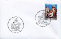 67075 Vaticano, Special Postmark First Day 2021 Università Cattolica Sacro Cuore, Catholic University - Storia Postale