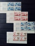ALGERIE.1955-56.N°325.327.328 Et 338. Blocs Coins Datés. NEUFS SANS Charnières. Côte YT Colonies 2022 : 48,30 € - Unused Stamps