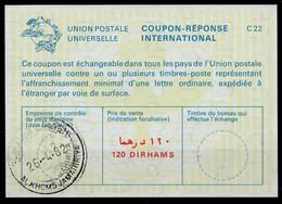 LIBYA / LIBYE La23A 120 DIRHAMSInternational Reply Coupon Reponse Antwortschein IRC IAS o AL KHOMS JAMAHIRIYA 26.4.82 - Libya