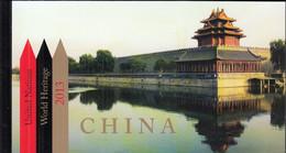 UNO NEW YORK MH 16, Postfrisch **, Welterbe: China, 2013 - Markenheftchen