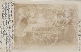 A777) KÖLN - Sehr Alte FOTO AK - FRAUEN Mit Altem Holz Wagen Mit Tael U. Aufschrift  Gel. 18.9.1901 - Koeln