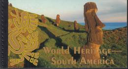 UNO NEW YORK MH 0-12, Postfrisch **, Welterbe: Südamerika, 2007 - Markenheftchen
