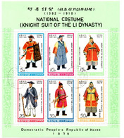 Bloc DPRK Korea 1979 - National Costume - Li Dynasty - Costumi