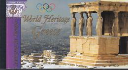 UNO NEW YORK MH 0-9, Postfrisch **, Welterbe: Griechenland, 2004 - Markenheftchen