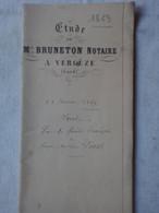 Acte Notarié Vergèze Gard Vente 1 Vigne 98 Ares à Vergèze 21 Janvier 1869 & Timbre Impérial Aigle D Et 1f.50 C Et Gard - Manuscripts