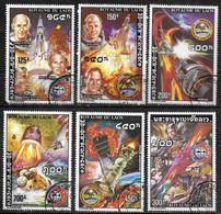 LAOS  N°  293/96    PA  122/23  Oblitere  ( Cote 6.20e )  Espace URSS - USA - Asia