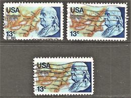 United States - Scott #1690 Used - 3 Different - Gebraucht