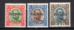 """IJsland: 1931 - Luchtpost """"Graf Zeppelin"""" - Airmail Ongebruikt / MH - Unused Stamps"""