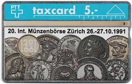 Switzerland - Swisscom (L&G) - K Series - K-91-80 - 20. Int. Münzenbörse Zürich - 109E - 09.1991, 5Fr, 1.000ex, Used - Schweiz