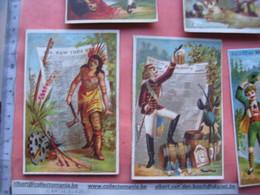 5 Chromos Litho PUB, Avant C1880, SUJET Gazette Krant Zeitung Newspaper, Journal - 11,5X7,5cm CLAREY Indian Indien NY - Collezioni