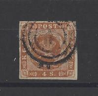 DANEMARK.  YT   N° 8  Obl   1858 - Gebraucht
