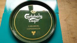 Plateau De Service Carlsberg Lager Copenhagen  De 30,5 De Diamètre En Métal - Otros