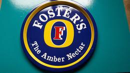 Plateau De Service Foster's The Amber Nectar  De 32 De Diamètre En Métal - Otros