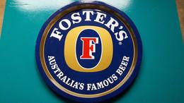 Plateau De Service Foster's Australia's Famous Beer  De 32 De Diamètre En Métal - Otros