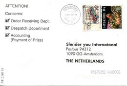 SINGAPOUR. N°806 De 1997 Sur Enveloppe Ayant Circulé. Véhicule De Pompiers. - Firemen
