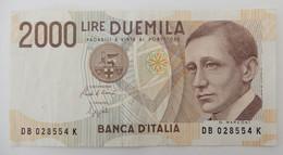 2000 Lire - DB 028554 K - 2000 Lire