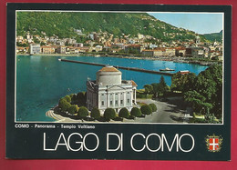 CP Italie Lago Di Como Panorama Temple Voltiano Volta Lac De Come - Como