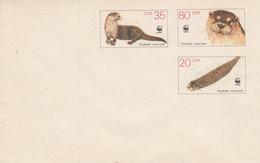 D U7** Fischotter 35 Pf Neben 80 Pf Darunter 2o Pf, - Postkarten - Ungebraucht