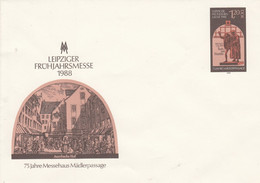 D U 8** Leipziger Frühjahrsmesse 1988 - 75 Jahre Messehaus Mädlerpassage - Postkarten - Gebraucht
