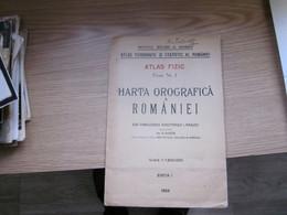 Harta Orografica A Romaniei Atlas Fizic 1928 - Carte Geographique