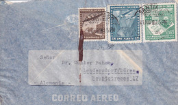 CHILE 1950 50 C+2P+5P AIRMAIL COVER SANTIAGO-LENDERSDORF/ DÜREN GERMANY - Cile