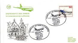 Frankfurt Paris 1976 - Airbus A 300 - Inaugural Flight Erstflug 1er Vol - Lufthansa - Brieven En Documenten