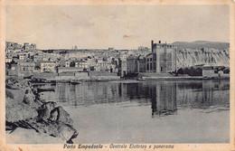 "10157 ""(AG)  PORTO EMPEDOCLE - CENTRALE ELETTRICA E PANORAMA""  CART  SPED 1937 - Agrigento"