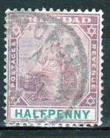 Trinidad 1896 Victoria Single ½d Stamp From The Definitive Set In Fine Used - Trinidad & Tobago (...-1961)
