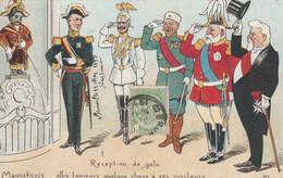 CPA Reception De Gala Mannekepis Urine Pisse Dirigeant Pays Kaiser Guillaume II Fallières François Joseph Illustrateur - People