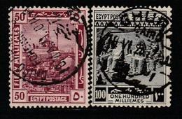 EGYPTE - N°67/8 Obl (1920-22) - 1915-1921 British Protectorate