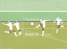 BRAZIL Block 34,unused,football - Blocks & Sheetlets