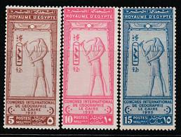 EGYPTE - N°94/6 **/* (1925) Congrès International De Géographie. - Unused Stamps